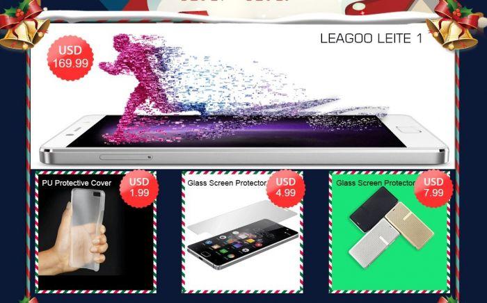 Рождественская распродажа смартфонов Leagoo в интернет-магазине Geekbuying.com – фото 1