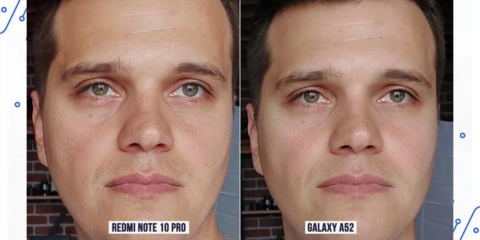 A52 сравнение фото на фронтальную камеру с Redmi Note 10 Pro