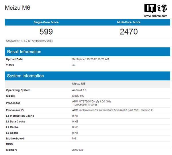 Meizu M6 был замечен в бенчмарке Geekbench. Какой процессор будет внутри? – фото 2