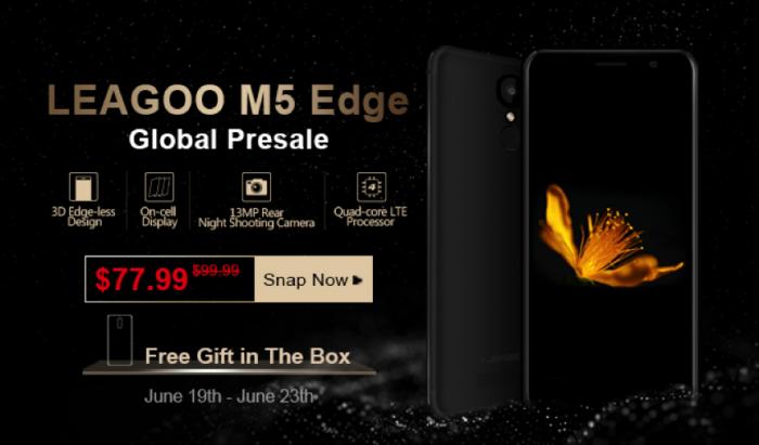 В рамках старта продаж Leagoo M5 Edge со скидкой $22 и бесплатные подарки – фото 1