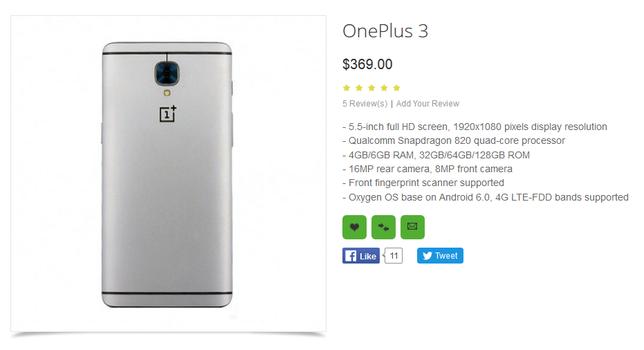 OnePlus 3: подробности и цену новинки рассекретил ритейлер – фото 2