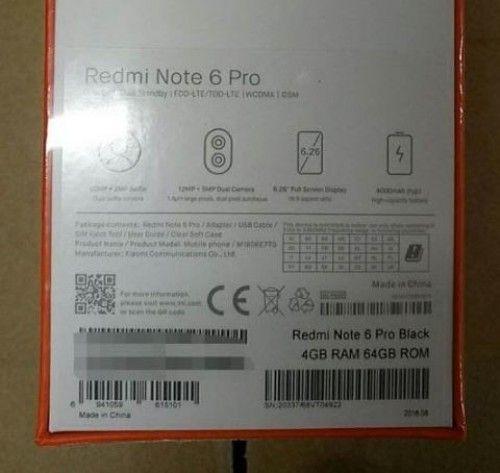 Xiaomi Redmi Note 6 Pro нафото изкоробки (+ характеристики)