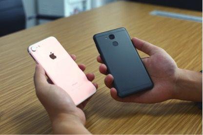 Vernee M5 против iPhone 7: сравнение дизайна – фото 3
