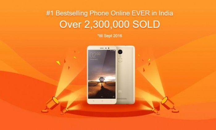 Xiaomi Redmi Note 3 взял первое место среди самых продаваемых смартфонов в Индии – фото 1