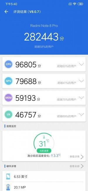 Redmi Note 8 Pro c Helio G90T прогнали через AnTuTu