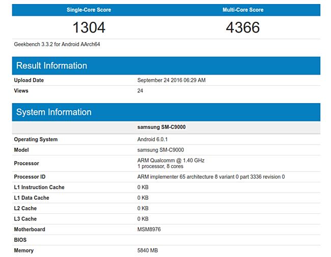 Samsung Galaxy C9 (SM-C9000) получит Snapdragon 652 и  6 ГБ оперативки – фото 2