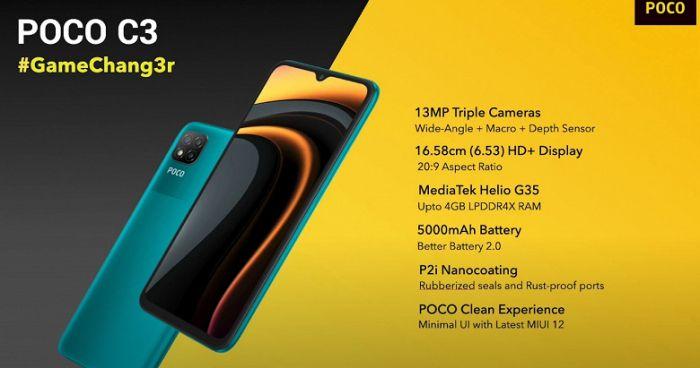 Анонс Poco C3: емкая батарейка, тройная камера и несколько отличий от Redmi 9C – фото 2