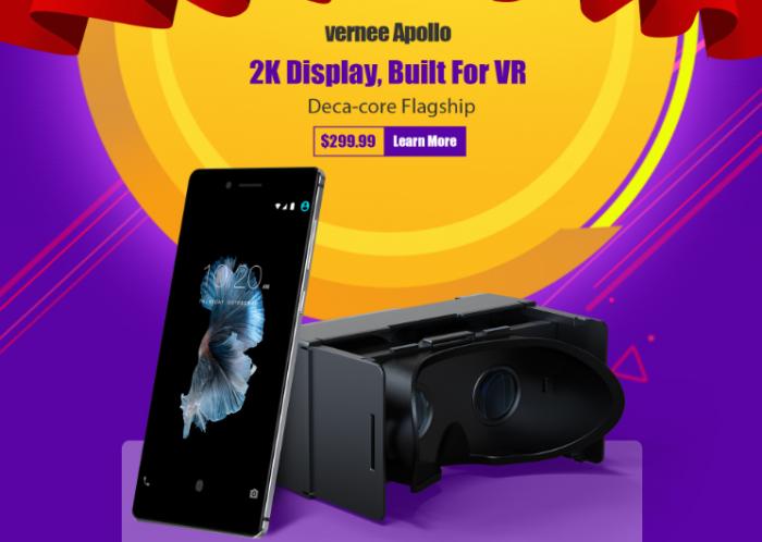 Дан старт приема предзаказов на Vernee Apollo на базе Helio X25 и с VR-очками – фото 1