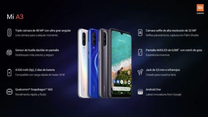 технические характеристики Xiaomi Mi A3