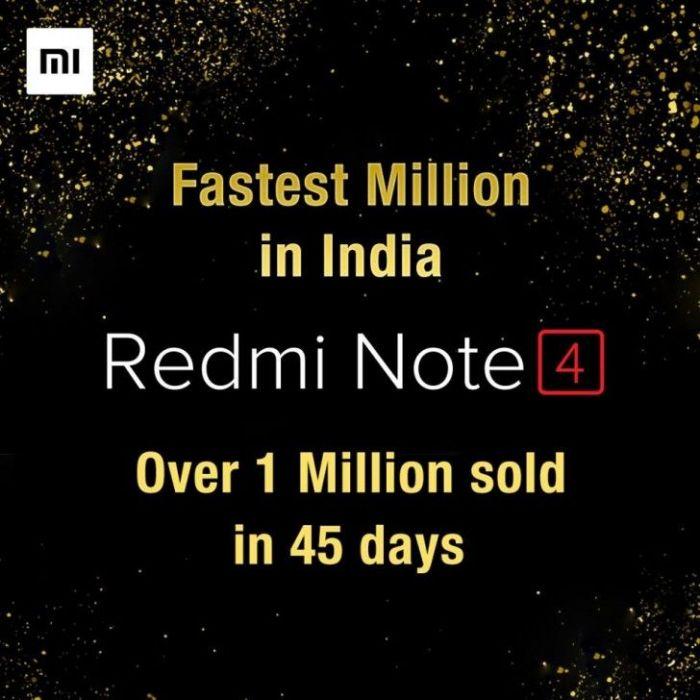Xiaomi Redmi Note 4 разошелся тиражом 1 миллион в Индии – фото 1