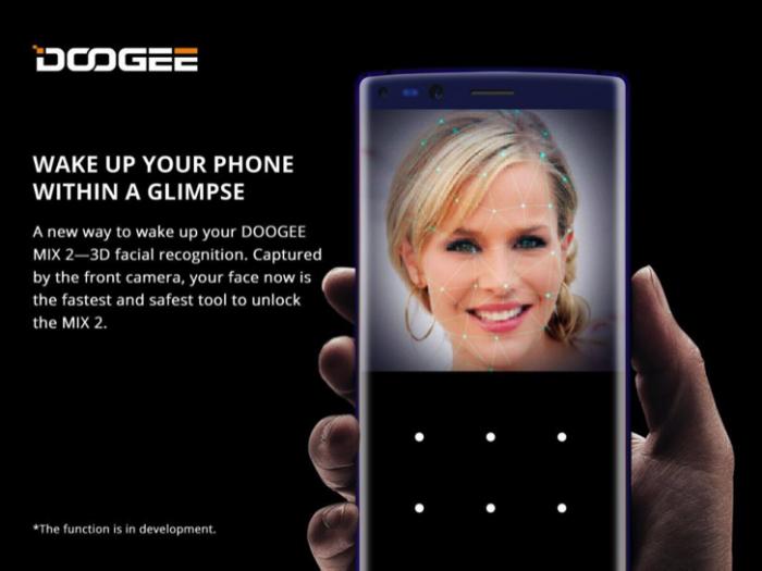 Doogee MIX 2 предложит технологию распознавания лица – фото 1