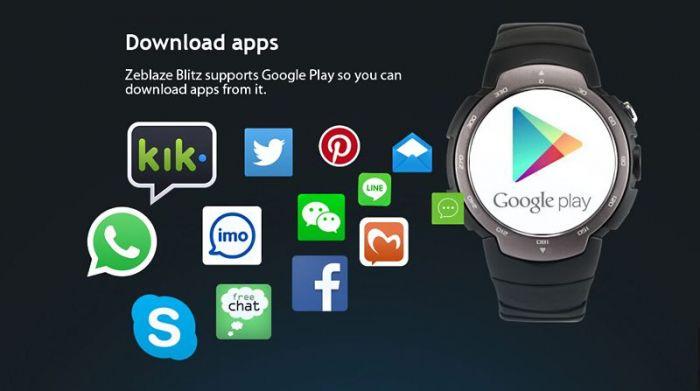 Смарт-часы Zeblaze Blitz  со встроенной поддержкой 3G и Android 5.1 показались на видео – фото 3