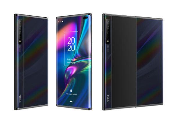 TCL показала две концепции гибких смартфонов: с раздвижным дисплеем и складывающийся втрое – фото 1