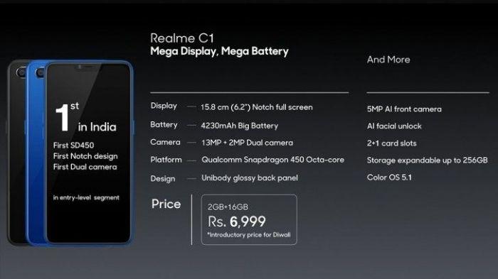 Представлен среднего уровня Realme 2 Pro и ультрабюджетник Realme C1 – фото 8