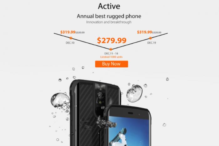 Успей купить Vernee Active со скидкой $40 или получи $1000 от производителя – фото 1