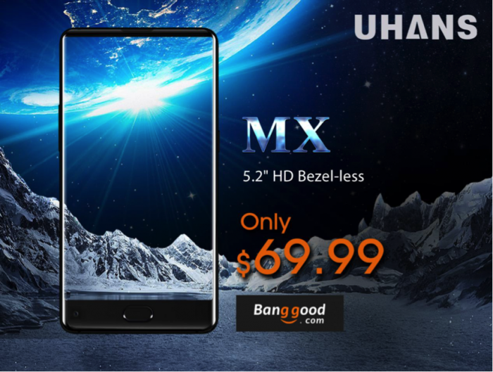 UHANS MX — безрамочный смартфон на Banggood всего за $69,99 – фото 1