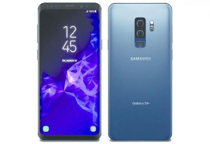 Samsung Galaxy S9+ в голубом цвете на рендере – фото 1