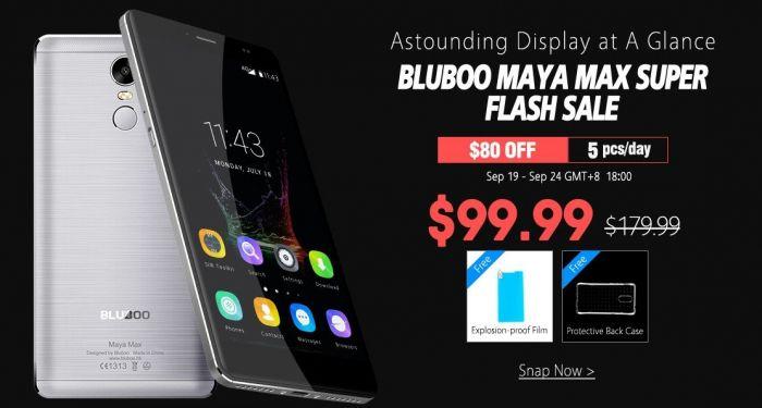 Bluboo Maya Max в акции от магазина Geekbuying.com: за $150 с 19 по 24 сентября и 5 штук по $100 ежедневно – фото 1