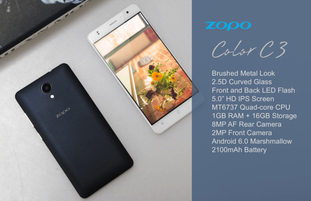 ZOPO Color C3, Color F2 и Color F5 – бюджетные новинки с 1 Гб оперативной памяти – фото 3