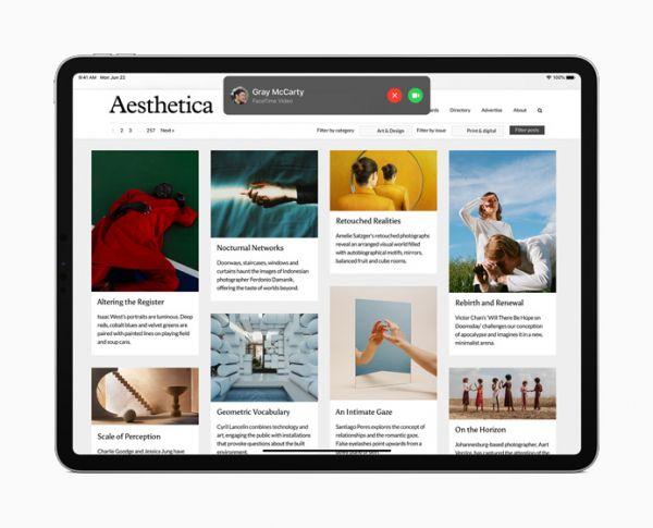Звонок iPad OS 14