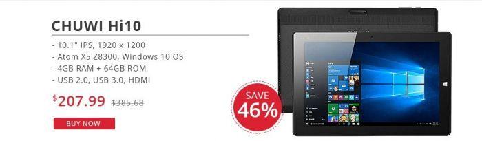 Распродажа планшетов с диагональю более 10 дюймов и с системой Windows 10 в магазине Tinydeal.com – фото 3