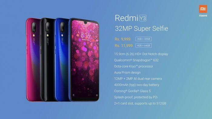 Представлен селфифон Redmi Y3 – фото 2