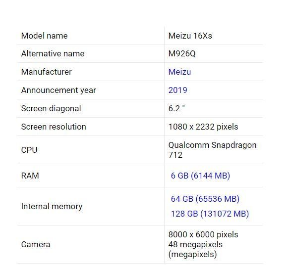 Рассекретили характеристики Meizu 16Xs – фото 4