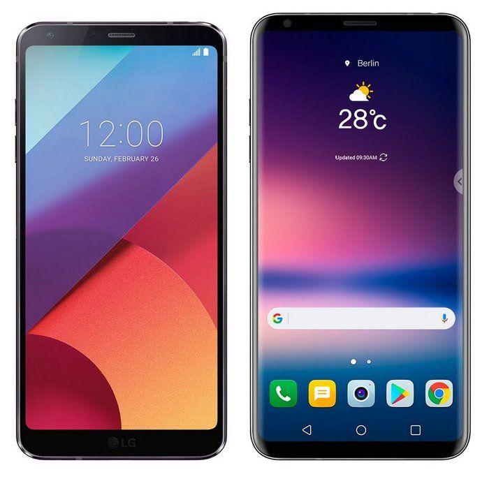 LG V30 и LG G6: два безрамочных смартфона на одном рендере – фото 1