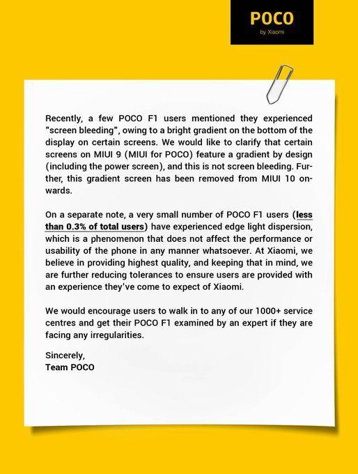 Xiaomi отвечает на жалобы о браке дисплеев Pocophone F1 (Poco F1) – фото 2