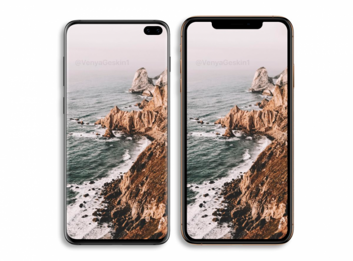 Samsung Galaxy S10+ и iPhone XS Max: два смартфона на одном изображении – фото 1