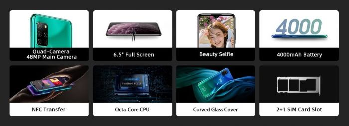 Вышел Elephone E10: доступный смартфон с NFC и Android 10 – фото 2
