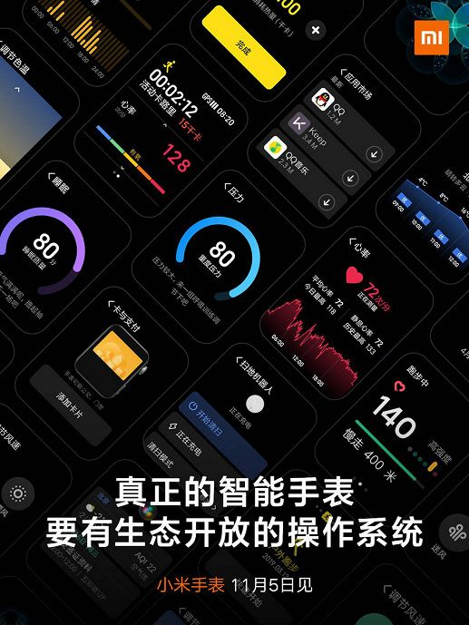 Xiaomi Mi Watch получат фирменную оболочку MIUI