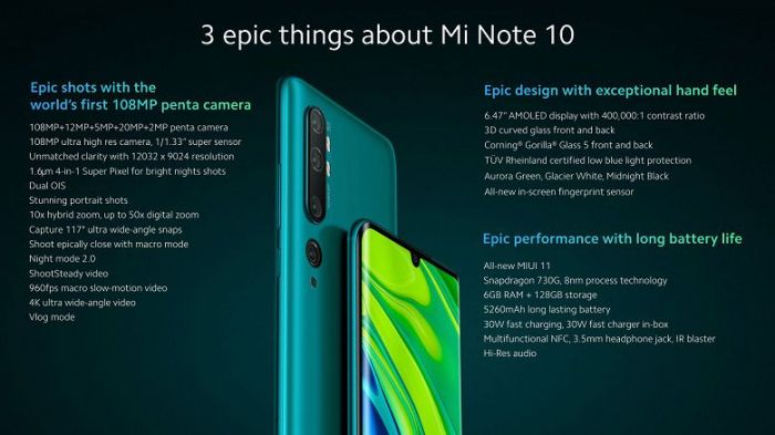 Анонс Xiaomi Mi Note 10 и Mi Note 10 Pro: характеристики как у Xiaomi CC9 Pro, но ценники существенно выше – фото 4