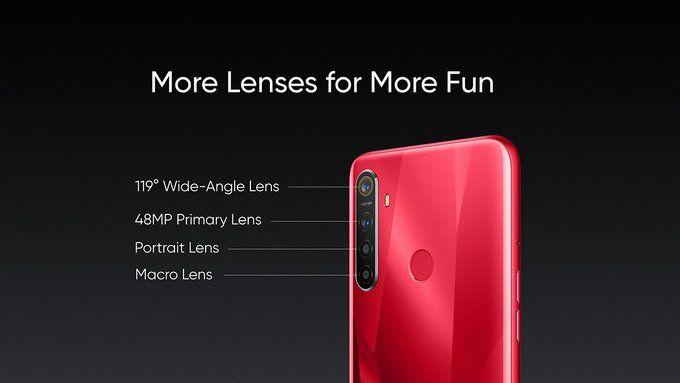 Представлен Realme 5s с 48 Мп камерой по цене от $139