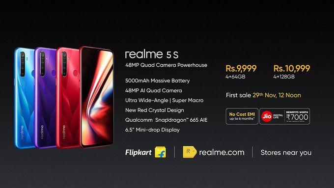 Представлен Realme 5s с 48 Мп камерой по цене от $139 – фото 2