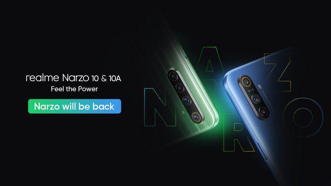 Анонс Realme Narzo 10 и Narzo 10A отложен