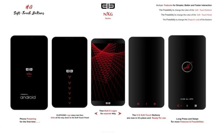 Дизайнер изобразил концепт безрамочного Elephone NXG – фото 3