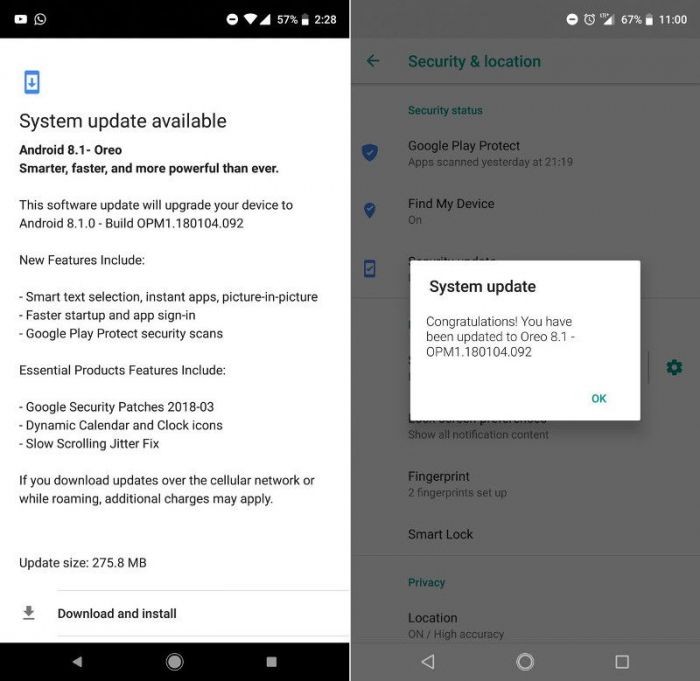 Essential Phone получает обновление до Android 8.1 – фото 2
