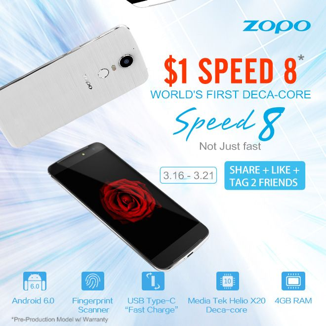 Zopo Speed 8 есть шанс купить всего за $1, если у тебя есть аккаунт в Facebook – фото 1