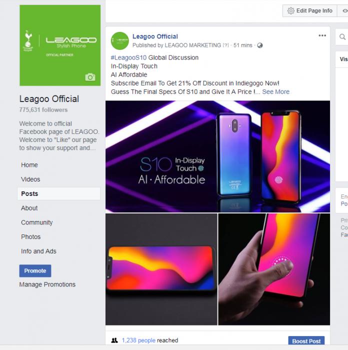 Leagoo S10 претендует на звание самого доступного смартфона с дисплейным сканером отпечатков пальцев – фото 2