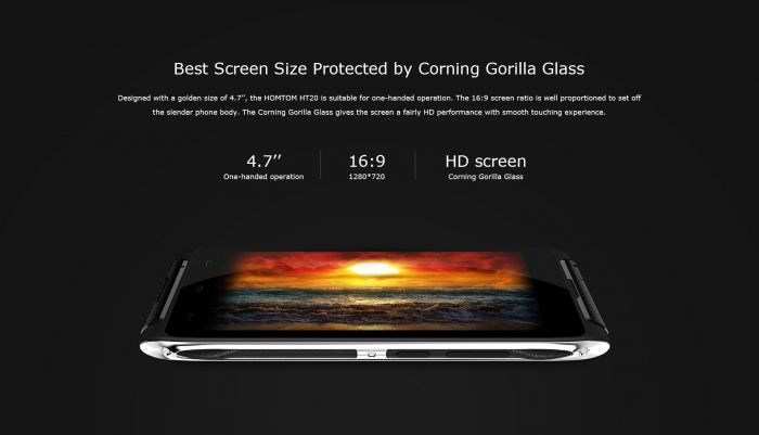 Стильный HomTom HT20 с 4,7-дисплеем и аккумулятором на 3500 мАч оценили в $129.99 – фото 1