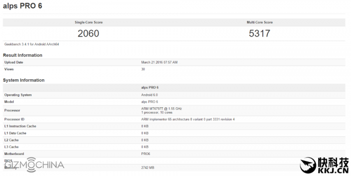 Meizu Pro 6 с процессором Helio X25 (МТ6797Т) прошел тестирование в Geekbench – фото 1