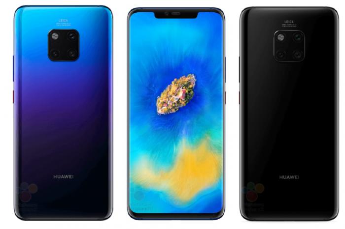 Вглобальной паутине  появились официальные изображения телефона  Huawei Mate 20