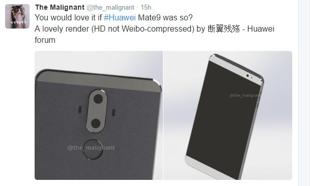 Huawei Mate 9: очередные рендеры демонстрируют внешний вид флагмана – фото 1