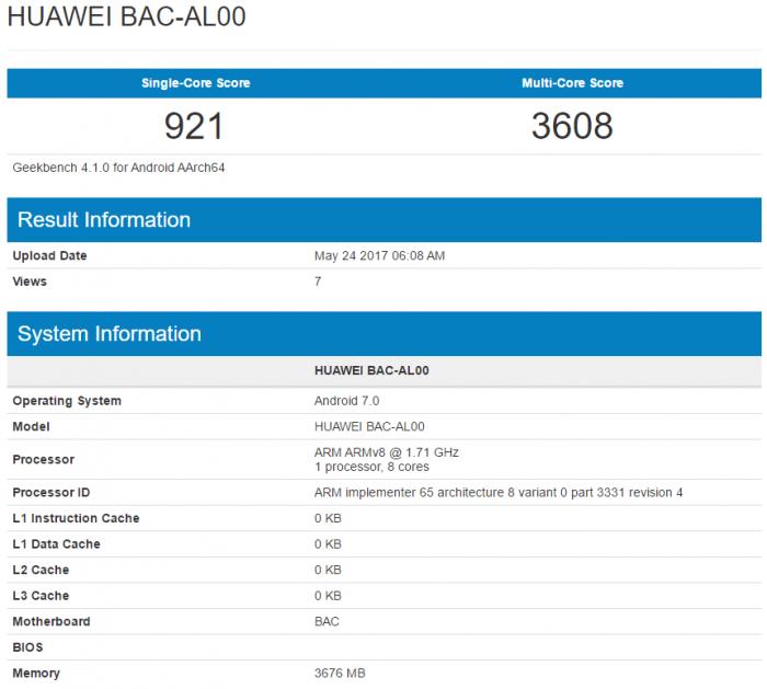 Бенчмарк Geekbench показал чип Kirin 655 в Huawei Nova 2 Plus – фото 1