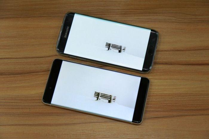 Ulefone Future против Samsung Galaxy S7 Edge в сравнении дисплеев и габаритов корпуса – фото 2