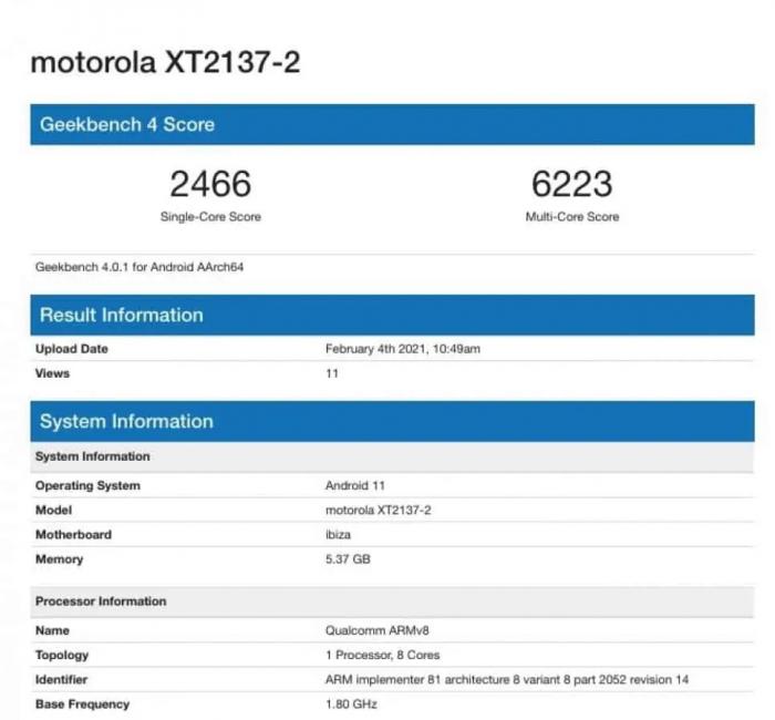 Motorola Ibiza засекли в GeekBench. Что показал новый бюджетник? – фото 1