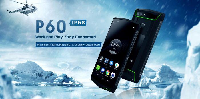 Защищенный Poptel P60 с беспроводной зарядкой и NFC появился в предзаказе – фото 1