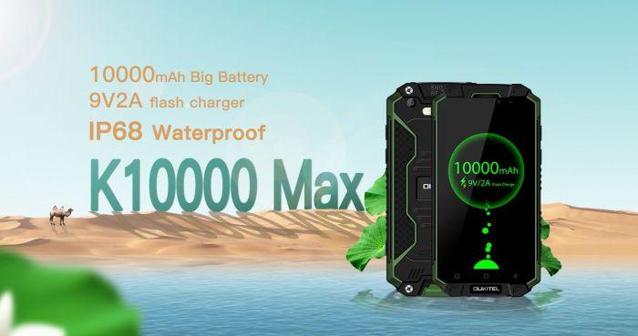 Oukitel K10000 Max обошел iPhone 7 Plus и iPad mini 4 в тесте на автономность – фото 1