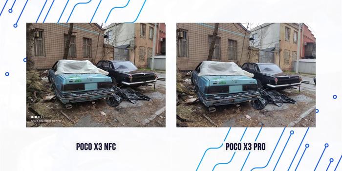 Сравнение фото Поко Икс 3 с Поко Икс 3 Про 1